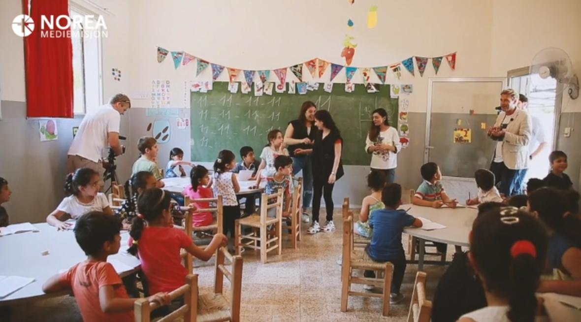 Møte med Child senter i flyktningeleir i Libanon.